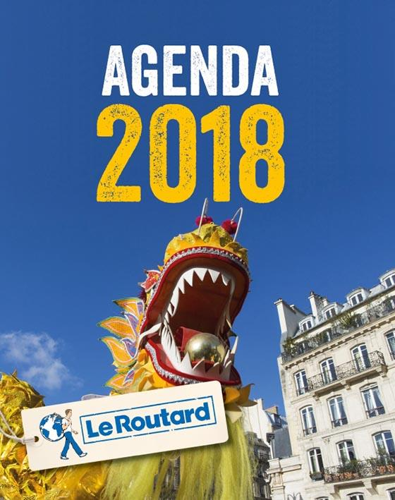 AGENDA 2018 DU ROUTARD. FETES ET FESTIVALS EN FRANCE.